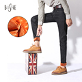 Moda de Invierno Para Hombre Espesar Stretch Denim Jeans Polar Caliente Pantalones de Mezclilla largos pantalones Tamaño 28 29 30 31 32 33 34 36 2 olors