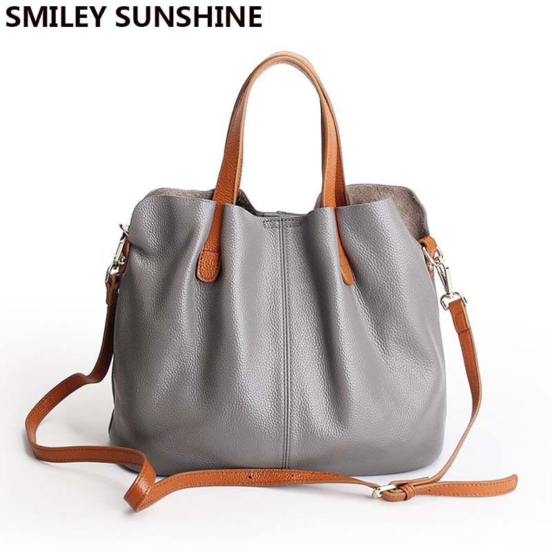 Soft Genuine Leather Ladies Hand Bag Crossbody Bags for Women Leather Handbags Composite Shoulder Bag Female