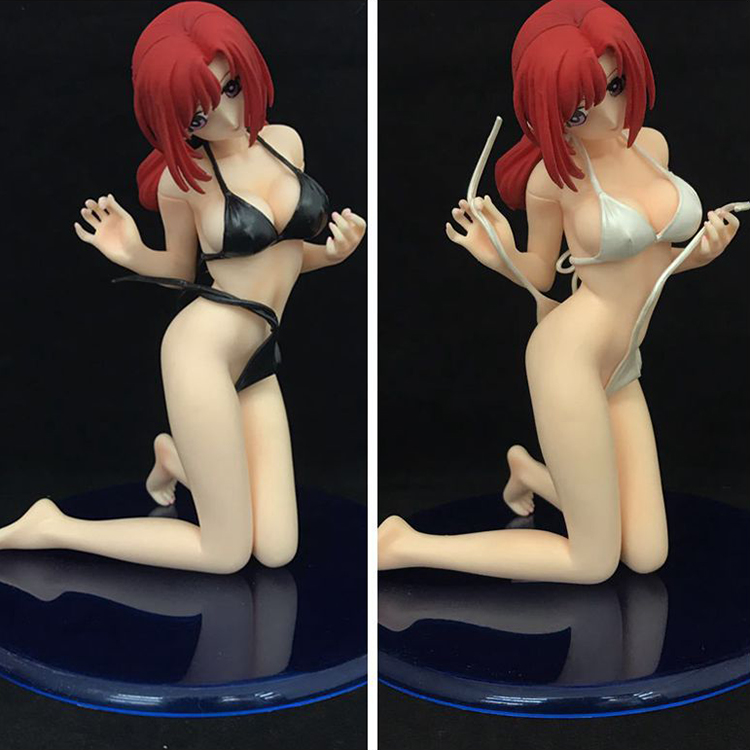 все цены на Free Shipping Sexy 16.5cm Onegai Teacher Mizuho Kazam Bikini Kneeling Cast Off Boxed PVC Action Figure Model Collection with box