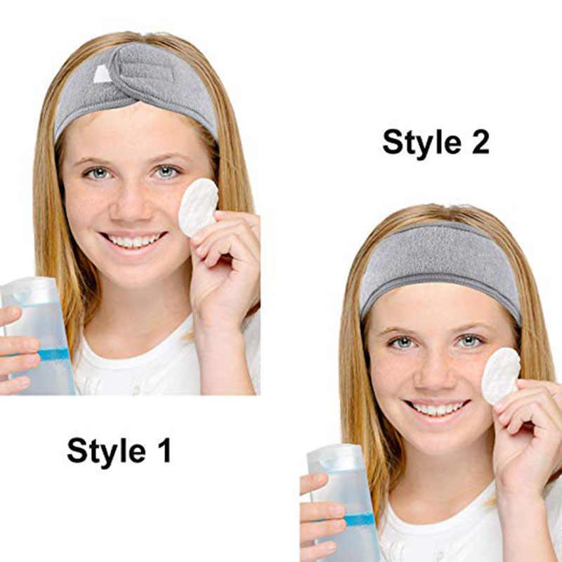 5 PCs Facial Headband Make Up Wrap Head Stretch Towel Headband with Magic t