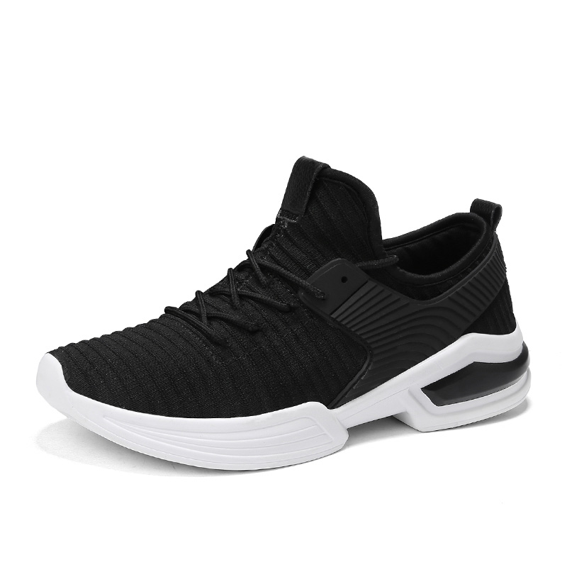 Mens Leisure Light Breathable Sneaker Height Increasing Athletic Sport Running Shoes Damping Non-slip Off White/Black/Red