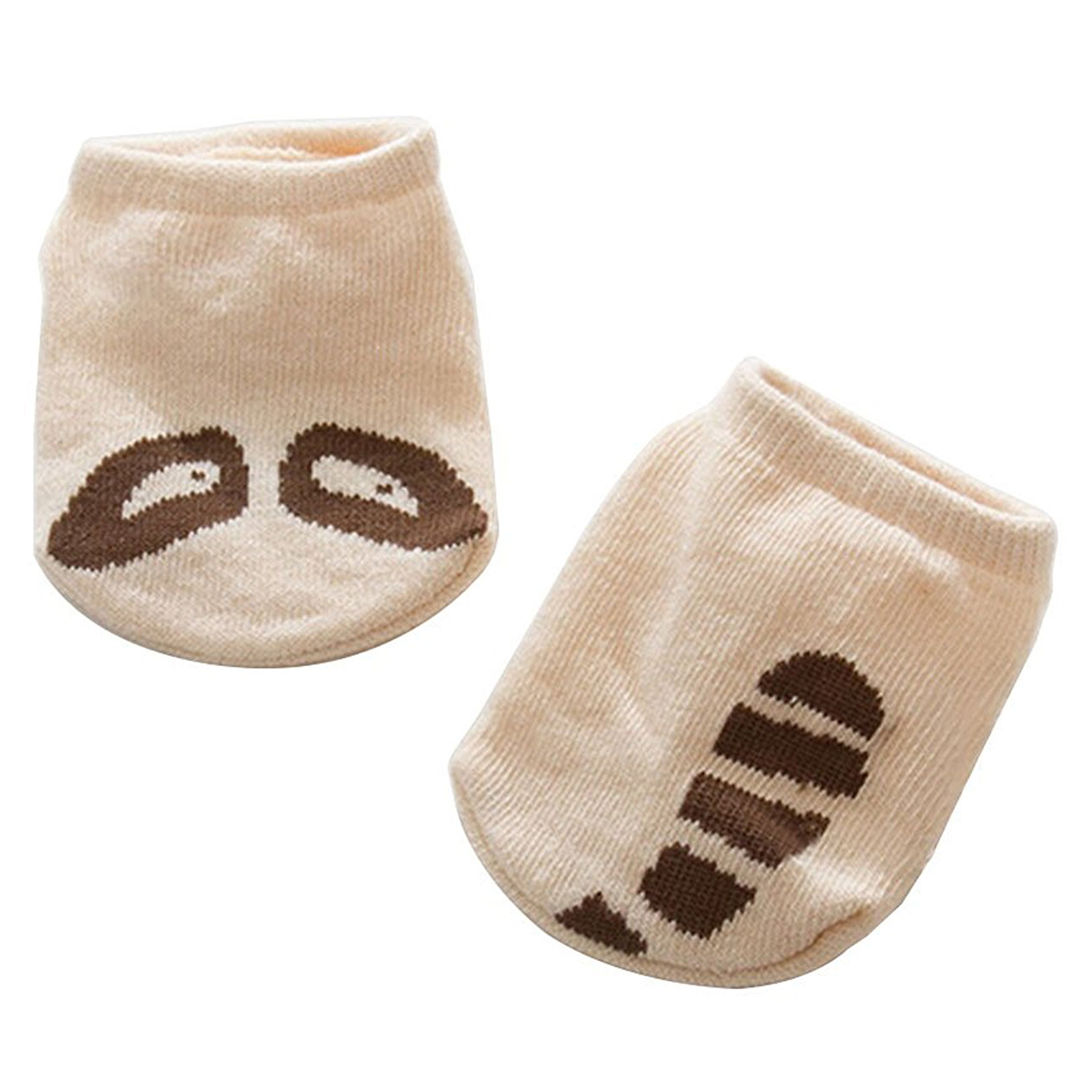 HOT SALE KACAKID Baby Girls Boys Cute Cartoon Socks Newborn Infant Cotton Socks Beige