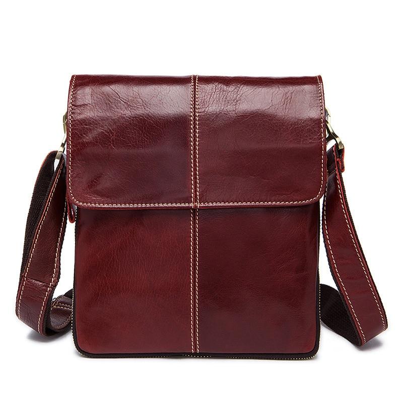 Factory direct leather men bag retro leather men's Messenger bag vertical high quality solid color flip shoulder bags