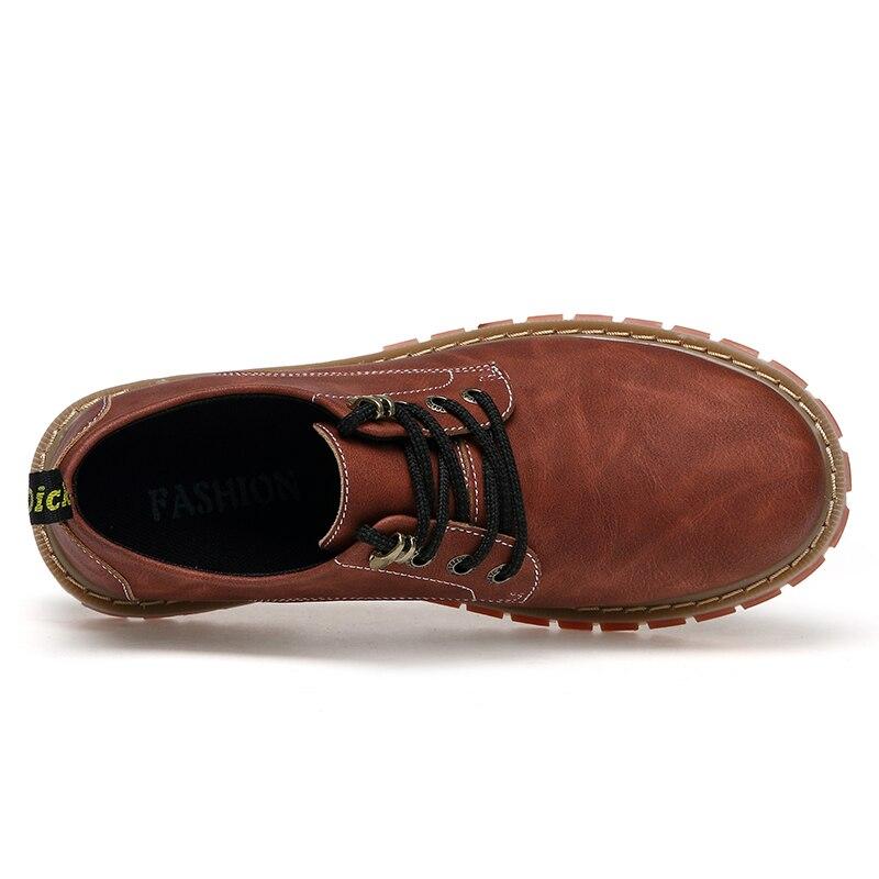 Woodtree Stivali Da Uomo 2018 Nuova Moda In Pelle Scamosciata scarpe da Uomo scarpe Casual oxfords per la Primavera Estate Inverno Sneakers Dropshipping - 6