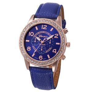 2018 New simple leather Geneva Casual Quartz Watch Women Crystal Diamond Watches Relogio Feminino Wrist Watch Hot sale #D(China)