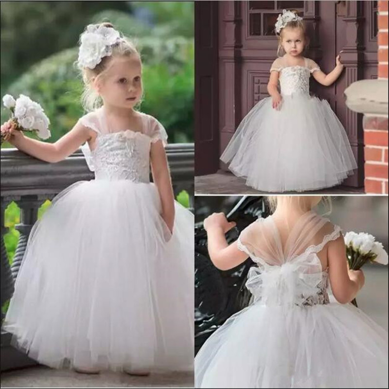 Cute Toddler   Flower     Girls     Dresses   For Weddings Newest Lace Tulle Tutu Ball Gown Infant Children Birthday   Dresses   Party   Dresses