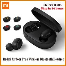 Xiaomi-auriculares Redmi Airdots TWS Bluetooth 5,0, auriculares estéreo de graves con micrófono, auriculares manos libres con Control IA