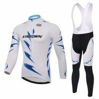 XINTOWN Cycling Full Set Long Sleeve MTB Mountain Bike Clothes Bib Pants Top Quality Lightsome Comfortable Maillot Ciclismo