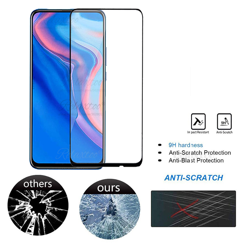 Image 3 - 9D Full Cover Tempered Glass for Huawei P Smart Z screen protector For hauwei Y9 Prime P Smart 2019 psmartz Glas Protective film-in Phone Screen Protectors from Cellphones & Telecommunications