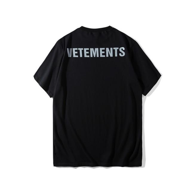 4c077f9093ca Best Version 2018 Vetements Staff Justin Bieber Women Men T shirts tees  Hiphop 3M Reflection Men Cotton T shirts tee Summer
