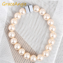 GraceAngie Simple Retro Style Imitation Pearl Beads Magnet Buckle Curtain Pendant Curtain Buckle Strap Home Items