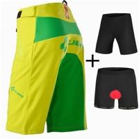 SAENSHING New Cube Shorts Men Cycling Shorts + 3D Padded Underwear Downhill MTB Bicycle Mountain Bike Short Pants Brand Bermuda