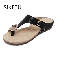 2017 New Korean Anti Skid Breathable Comfort Sandals Large Size 35 42 Diamond Summer Sandals