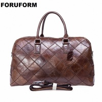 Men Travel Bag Multifunction Men 100% Genuine Leather Travel Bag Big Capacity Shoulder Handbag Tote Bag For Business Man LI 1952