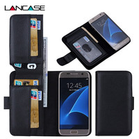 S7 S7 Edge Magnetic Leather 7 Card Slots Flip Stand Wallet Cover For Samsung Galaxy S7