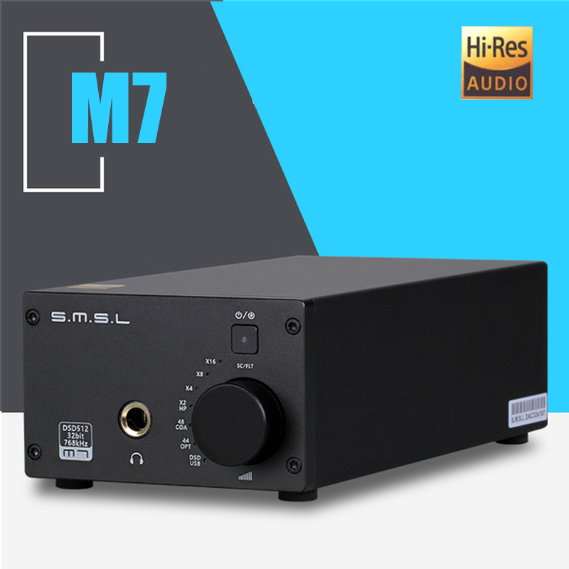 SMSL M7 XMOS TPA6120A2 2 * AK4452 32Bit/768KHz DSD512 Hifi Audio USB DAC with Headphone Amplifier ds1302 32 768k 32 768khz 6pf 5ppm