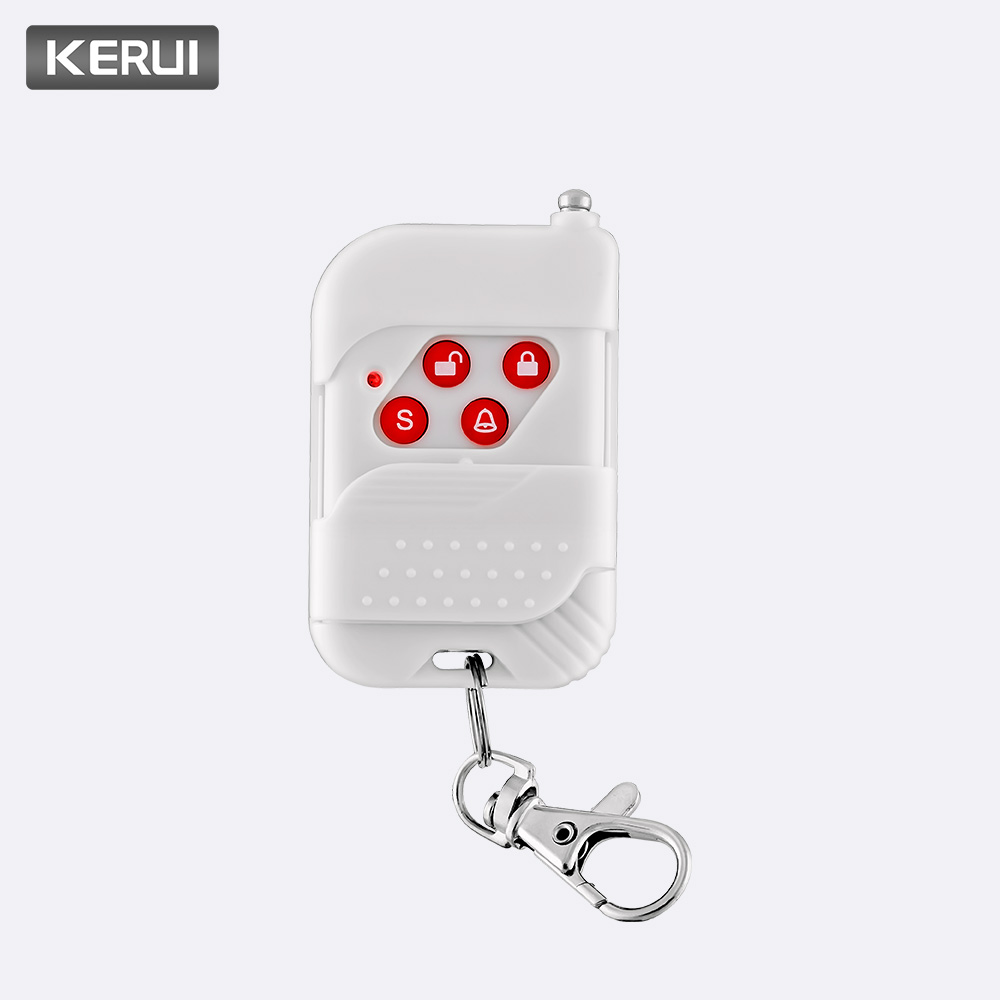 Kerui Wireless High-performance Portable Remote Control 4 Buttons Keychain For Wifi Gsm Pstn Home Security Alarm System Security Alarm