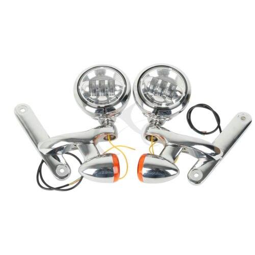 Turn Signal LED Spotlight Fog Light Bracket For Harley Electra Street Glide FLHX Road King FLHX FLHXXX