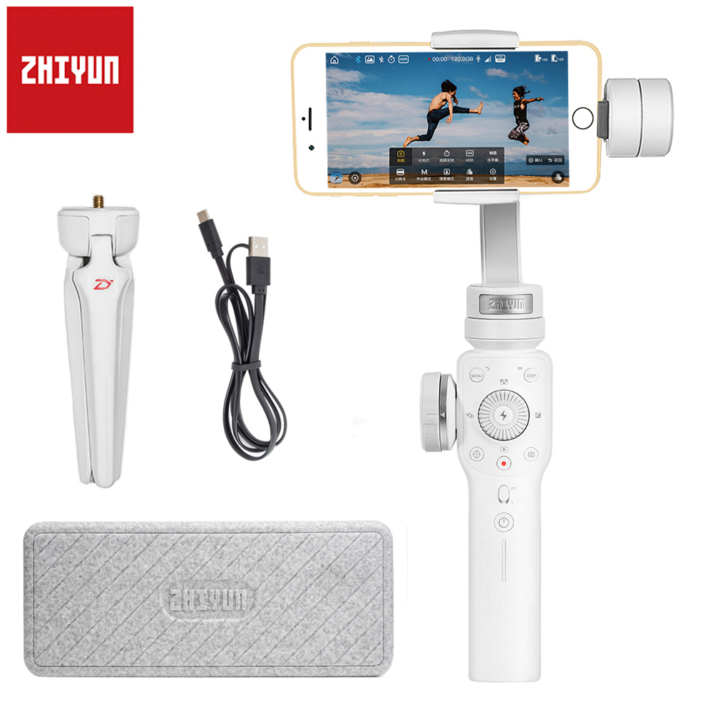 Zhiyun Smooth 4 3-Axis Handheld Gimbal Portable Stabilizer Smartphone for iPhone X 8Plus 8 7 6 Plus S9 S8 S7 6 Vertical Shooting feiyu vimble c 3 axis handheld gimbal portable smartphone stabilizer for i phone 6 7 vertical shooting pk zhiyun smooth q