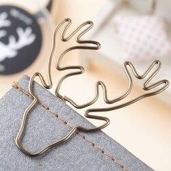 8 teile/los Vintage Deer Clip Metall Papier Clips Lesezeichen Pin Karea Schreibwaren Zimt Büro Zubehör Memo Clips