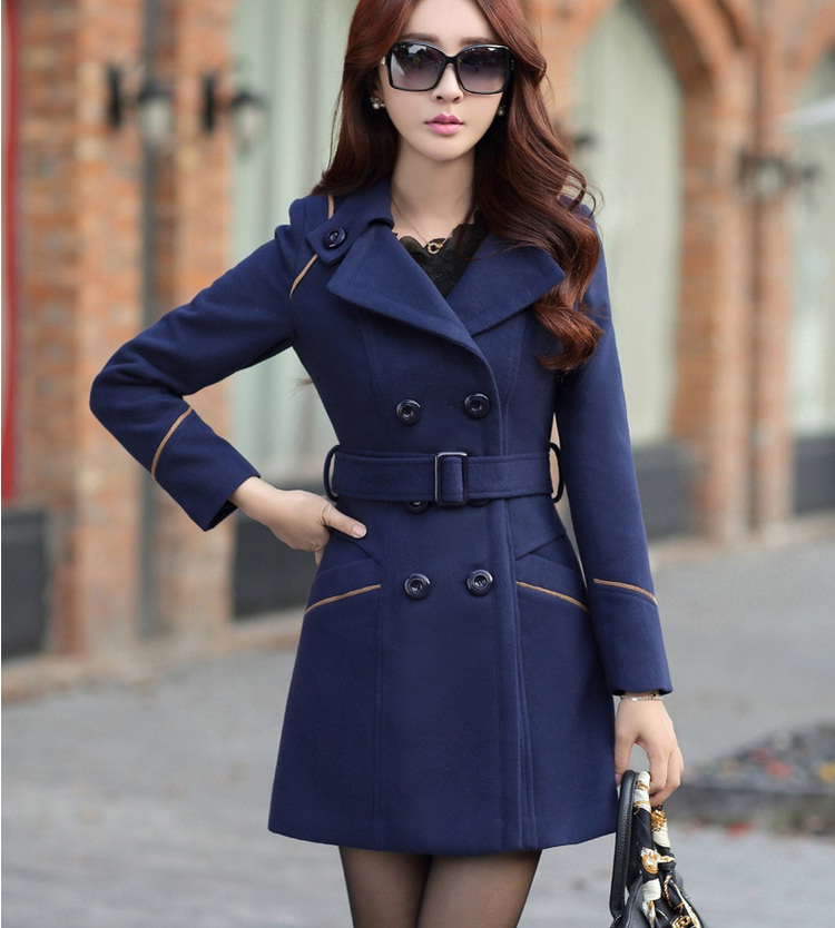 YAGENZ M-3XL Autumn Winter Wool Jacket Women Double Breasted Coats Elegant Overcoat Basic Coat Pockets Woolen Long Coat Top 200 3