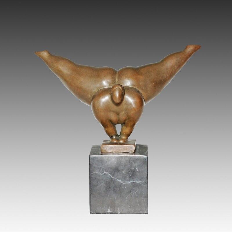 Atlie бронзы Art Nouveau абстрактного человеческого скульптура Статуэтка танцы горячей литой домашние украшения