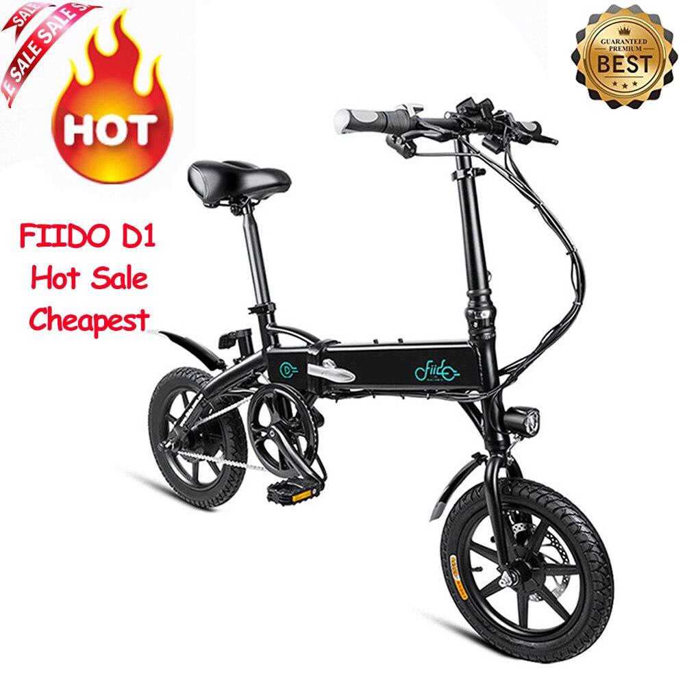 Vélo électrique pliant FIIDO D1 EU 7.8Ah/10.4Ah vélo électrique léger Portable en alliage d'aluminium arrivé dans la semaine
