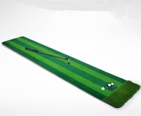 58*300cm Portable Indoor golf putting trainer Artificial grass Mini Golf greens set Golf practice blanket with hole cup and ball