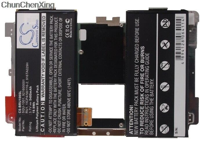 Cameron Sino 5400mAh Battery 916TA029H, RU1, SQU-1001 for Blackberry  Playbook, Playbook 16GB, Playbook 32GB, Playbook 64GB