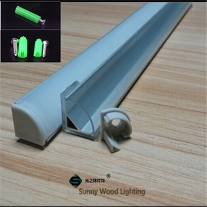 Image 2 - 5 30pcs/lot ,40inch 1m  led aluminium profile for 10mm PCB board led corner channel for 5050 strip led bar light housing
