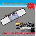 """Promoção 4.3 """"polegadas TFT LCD Espelho Retrovisor Do Carro Kit câmera Câmara de Marcha para VW Passat/Sagitar/Touran/Multivan T5/T5 Transporter"""