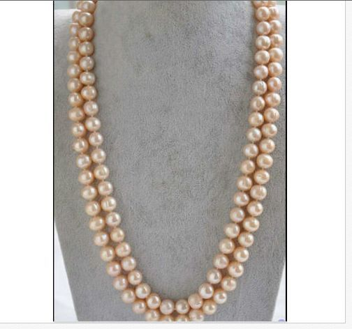 GORGEOUS SINGLE 9-10MM SOUTH SEA GOLD PINK ROUND PEALR NECKLACE 48INCH 14k/20GORGEOUS SINGLE 9-10MM SOUTH SEA GOLD PINK ROUND PEALR NECKLACE 48INCH 14k/20