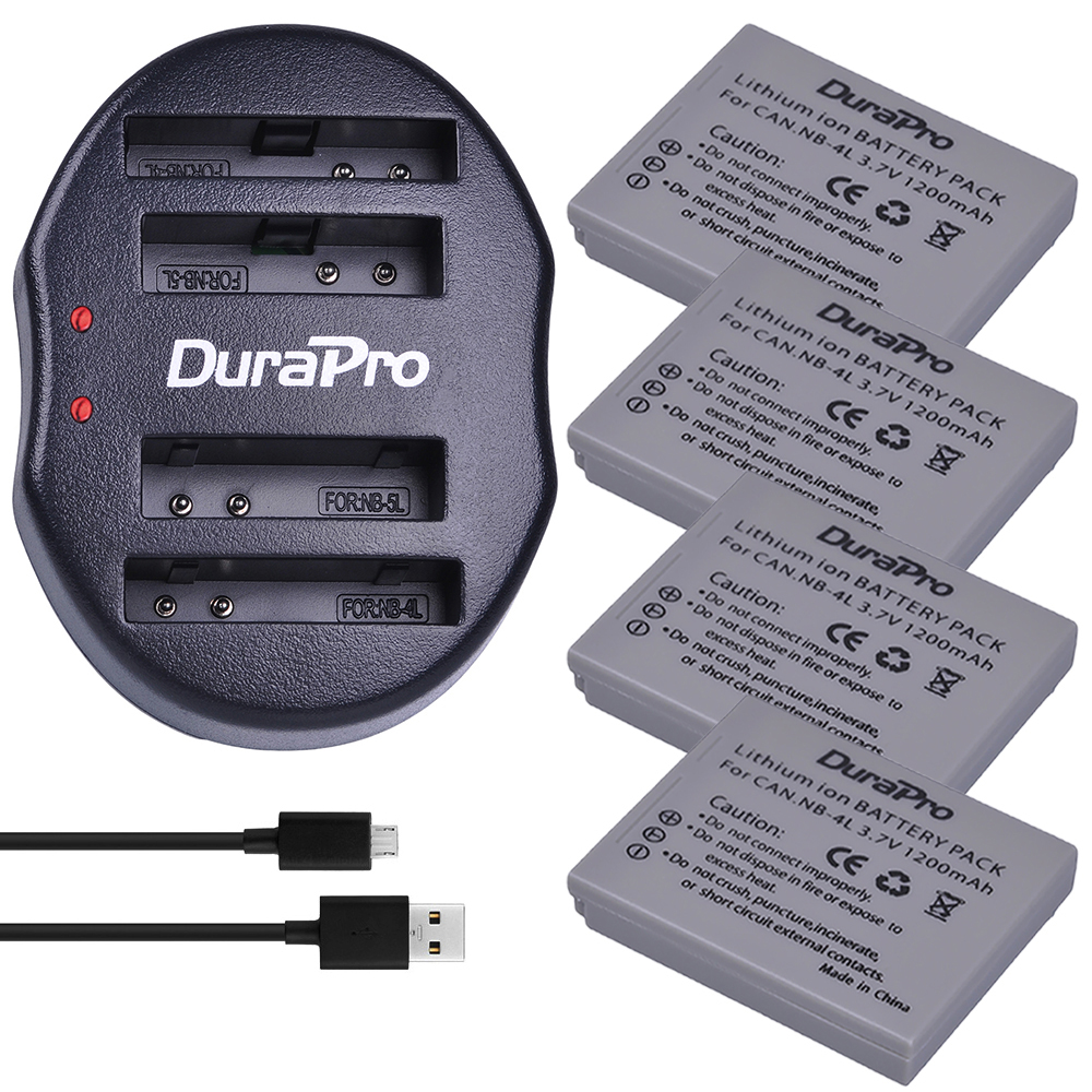 4pc Nb-4l Nb 4l Nb4l Li-ion Battery + Usb Dual Charger For Canon Ixus 100 110 30 Is Ixy 10 Sd300 Ixus 60 65 80 75 115 120 Is 117 High Safety