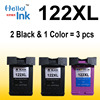 3pcs Ink Cartridge Compatible For HP 122 XL For HP Deskjet 1000 1050 2000 2050 2050s