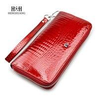 Women Wallets Genuine Leather Wallet Female Purse Long Coin Purses Holders Ladies Wallet Aligator Zipper Fashion