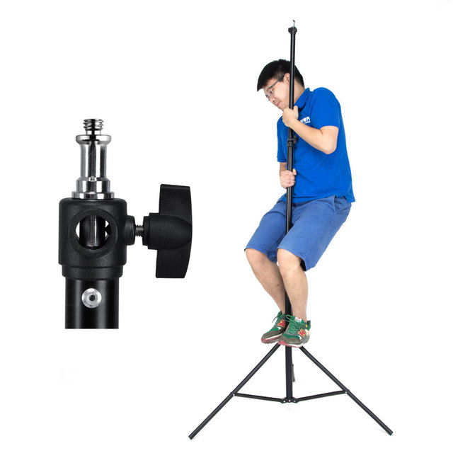 "260cm Air Cushioned Heavy Duty Light Stand With Adaptor Also Support 1/4"" and 3/8"" Photo Equipment"