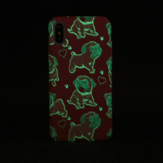 Cartoon French Bulldogs Printed Luminous iPhone Case