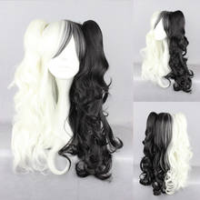 Ladieshair 70 cm loiro ondulado Lolita Cosplay Peruca Peruca preta Peruca Do Carnaval(China)