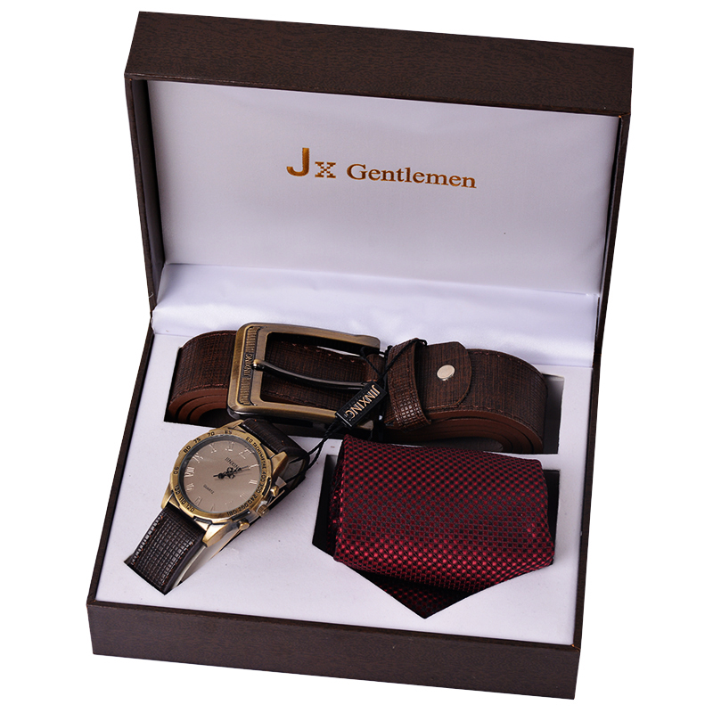 2016 Watch Set Men's Tie Suits Tie For Men Gift Box Leather Belt ...