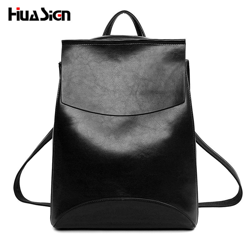 Huasign 2017 Design Pu Women Leather Backpacks School Bag Student Backpack Ladies Women Bags Leather Package