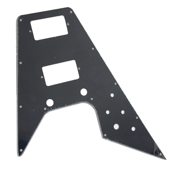 replacement Pickguard For '70's Kalamazoo Made Gibson Flying V, 3-Ply - BLACK image