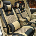 10Pcs/Set Universal Full Set PU Leather Luxury Car Cushion By Four Seasons General Seat Cushion Car Seat Cover Black/Brown