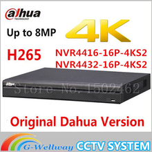 DAHUA NVR4416-16P-4KS2 16ch with 16 poe NVR4432-16P-4KS2 32ch with 16POE 1.5U 4HDD support up to 8MP resolution IP Camera