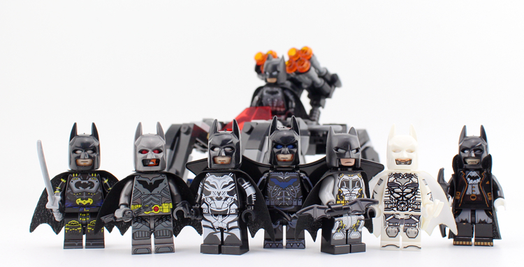 8Pcs/set New Legoing Super Heroes 8 in 1 BATMAN Minifigure Bricks Building Blocks bat-man Mini Figures Toys For Boys Gift building blocks star sapphire gold batman indigo tribe batman super heroes star wars bricks kids diy toys hobbies pg8076 figures