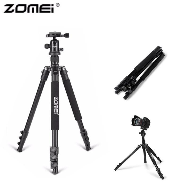 Zomei Q555 Aluminum Alloy Portable Camera Tripod 360 Degree Horizontal Rotating Flexible With Ball Head For DSLR Camera Tripod цена