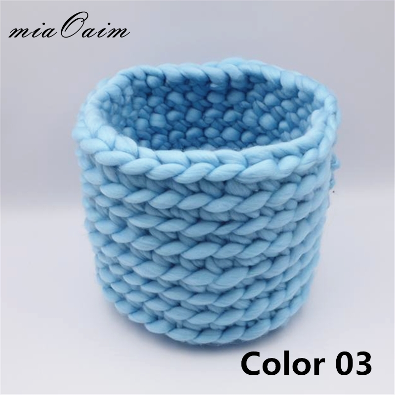 2colors/lot Handmade Honey Pot Finger Crochet Basket Nest Basket Prop Newborn Baby Prop Photo Studio Prop Fotografia Accessories