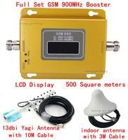 Conjunto completo 13dbi yagi + display LCD! impulsionadores do sinal de telefone móvel GSM 900 900 mhz  amplificador de sinal de telefone celular GSM repetidor de sinal gsm|Estação de retransmissão| |  -