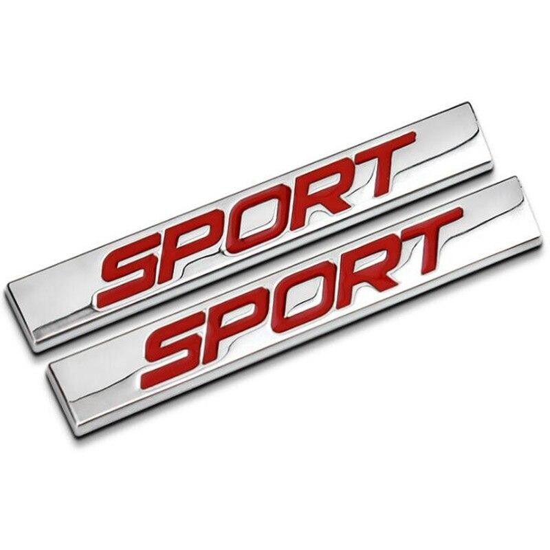 3D из металла красные, черные спортивные багажника эмблемы письмо Стикеры заднее крыло Авто наклейки для Focus 2 3 Opel автомобиля Kia стиль