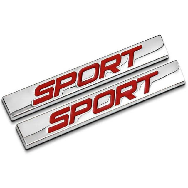 3d Metall Rot Schwarz Sport Heckklappe Abzeichen Emblem
