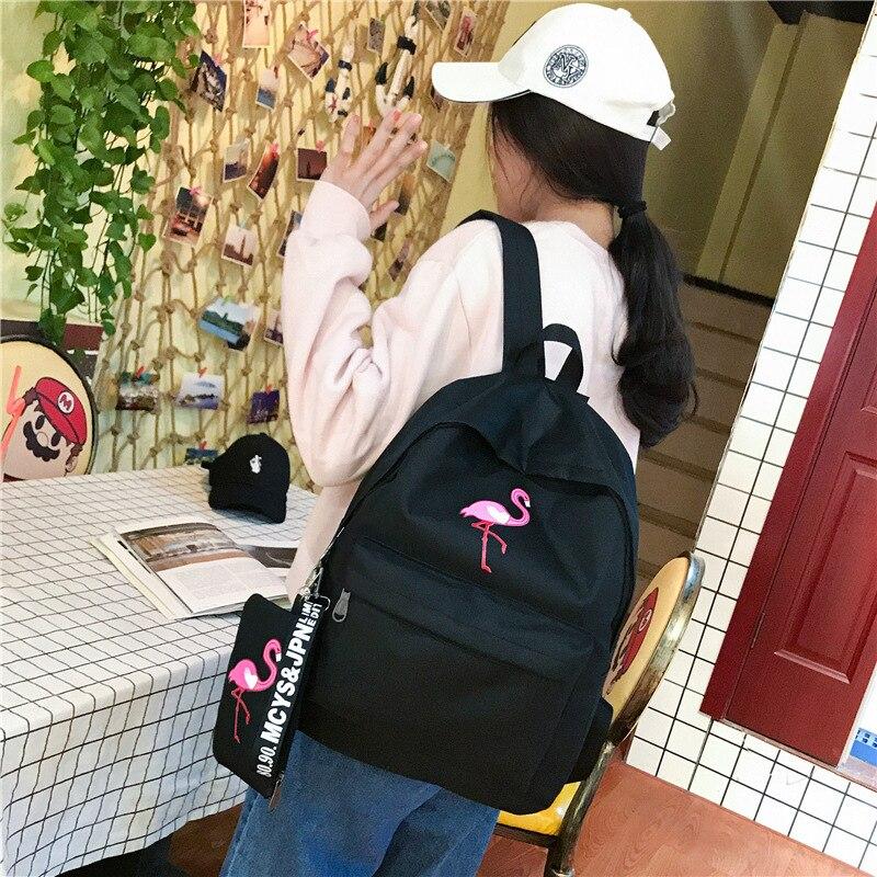 High Quality School Bag Women School Backpack For Teenagers Girls Schoolbags Travel Backpacks Large Capacity WBS746-2